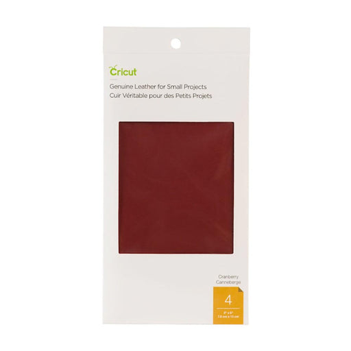 Genuine Leather for Small Projects - Cranberry, 3x6