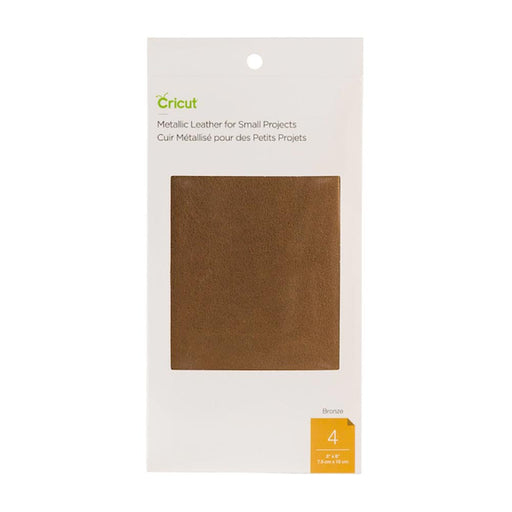 Genuine Leather for Small Projects - Metallic Bronze, 3x6