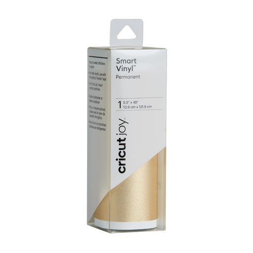 Cricut Joy Smart Vinyl - Permanent Shimmer Adhesive Decall Sheet - Gold