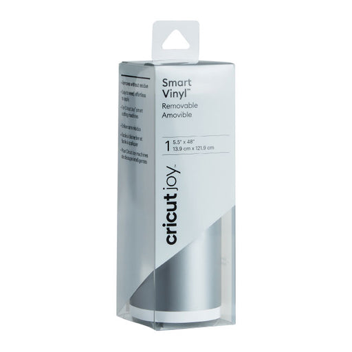 Cricut Joy Smart Vinyl - Removable Adhesive Decall Roll - Silver