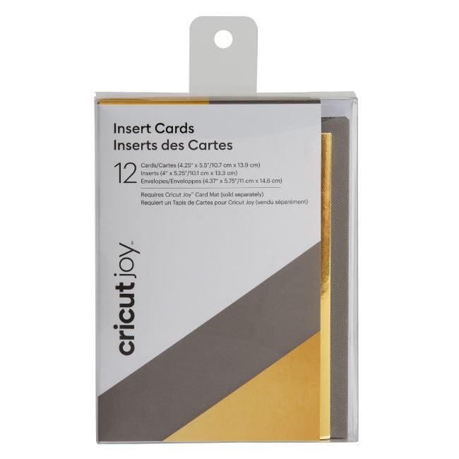 Cricut Joy Insert Cards - Metallic Gray/Gold, 12ct