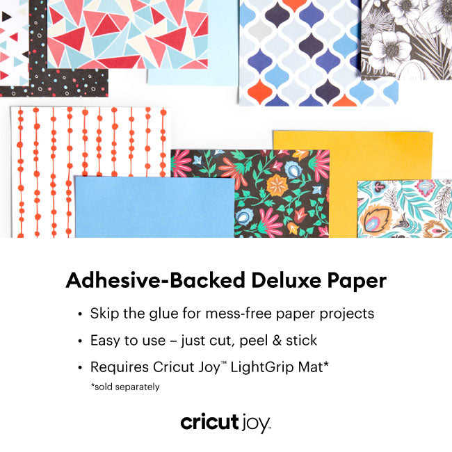Cricut Joy Adhesive-Backed Deluxe Paper -Black and White Botanicals, 10 ct