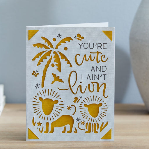 Cricut Joy Insert Cards - DIY Greeting Card  - Cream/Gold Glitter, 10 ct
