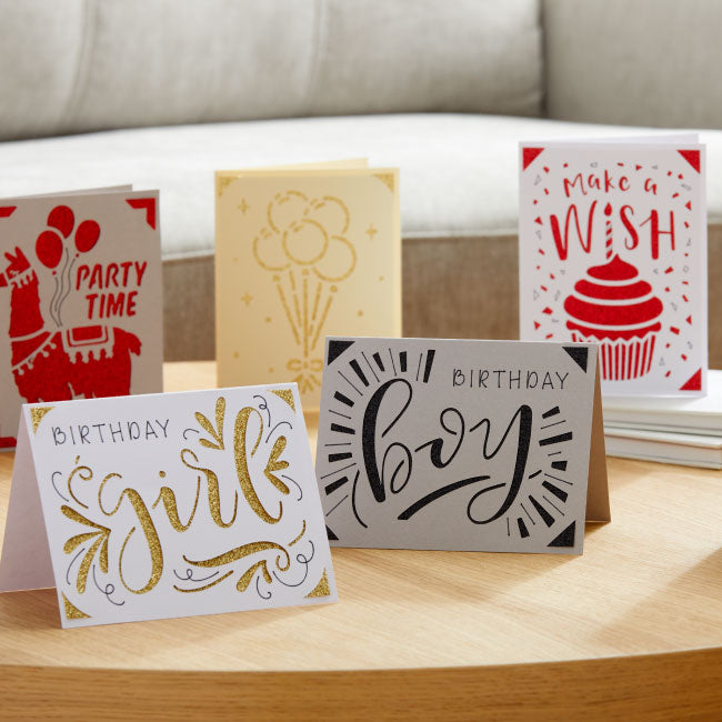 Cricut Joy Insert Cards - DIY Greeting Card   - Gray/Silver Brushed, 10 ct
