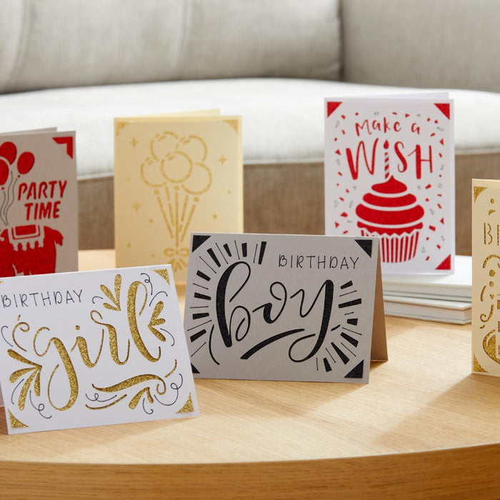 Cricut Joy Machine Insert Cards Sampler and Pen Set, Silver and Gold Bundle