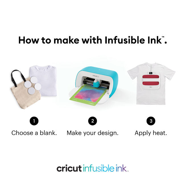 Cricut Joy Smart Machine with DIY Infusible Ink Sheets, Tote Bag and Essential Tool Bundle