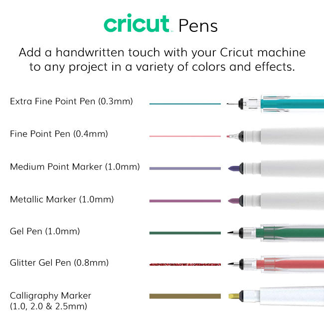 Cricut Machine Bulk Pen Set, DIY Sticker Paper and Essential Tools