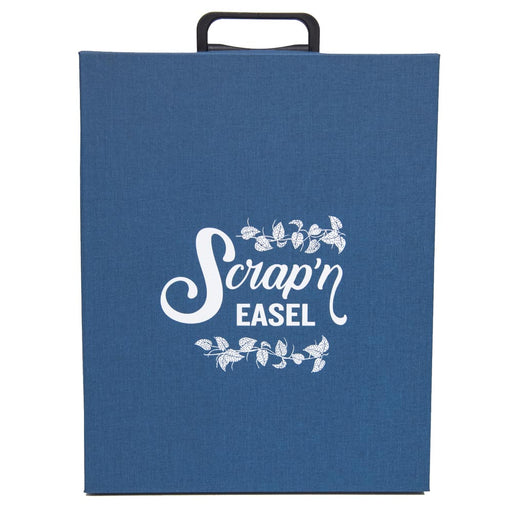 Scrap N' Easel Carrying Case Storage Tote, Blue