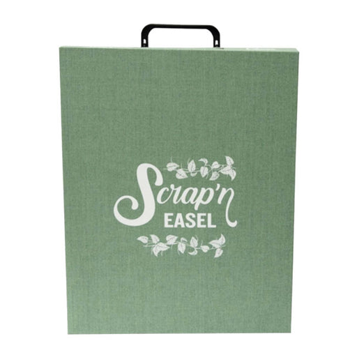 Scrap N' Easel Carrying Case Storage Tote, Green