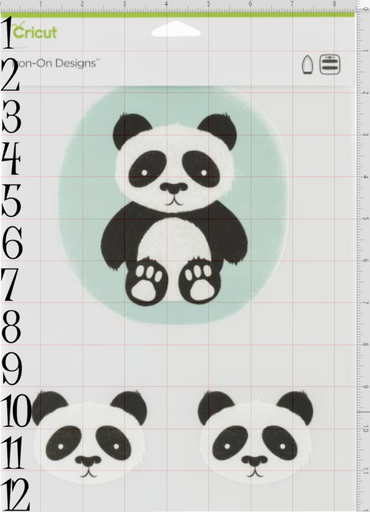 Cricut Iron-on Designs Panda - craft-e-corner.com