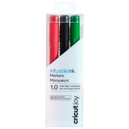 Cricut Joy Infusible Ink Markers 1.0 (3) Black, Red, Green