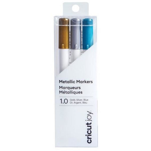 Cricut Joy Metallic Markers, 1.0 (3) Gold, Silver, Blue