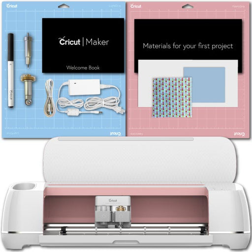 Cricut Maker, Rose Machine Essential Bundle: Iron-On Sampler, Adhesive Vinyl, Tool Kit