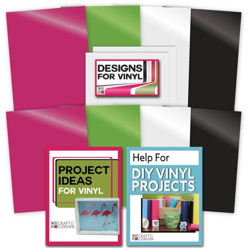 Adhesive Backed Vinyl (8 Pack) plus 2 sheets Transfer Paper - www-craft-e-corner-com