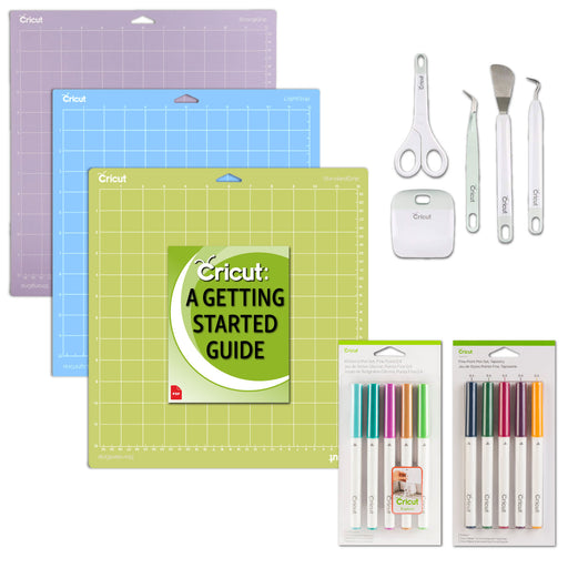 Cricut Pens, Basic Tools, Variety Pack Mats Bundle