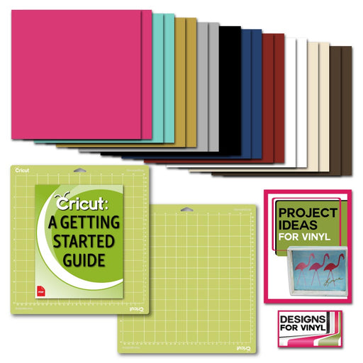 Cricut Premium Vinyl Pack, Standard Grip Mats, Beginner Guide & Designs