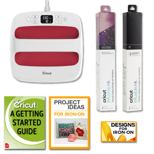 "Cricut EasyPress 2, 9""x9"" Raspberry Machine with Infusible Ink Sheets Bundle - craft-e-corner.com"