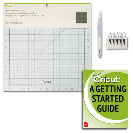 Cricut Self Healing Mat, TrueControl Knife, Blades, and Beginner Guide Bundle - craft-e-corner.com