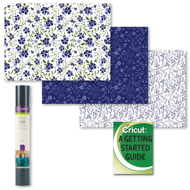 Cricut Everyday StrongBond HTV Bundle, In Bloom Blue and Navy