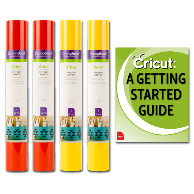 Cricut Everyday StrongBond HTV Iron-On Bundle, Orange and Yellow 12x24
