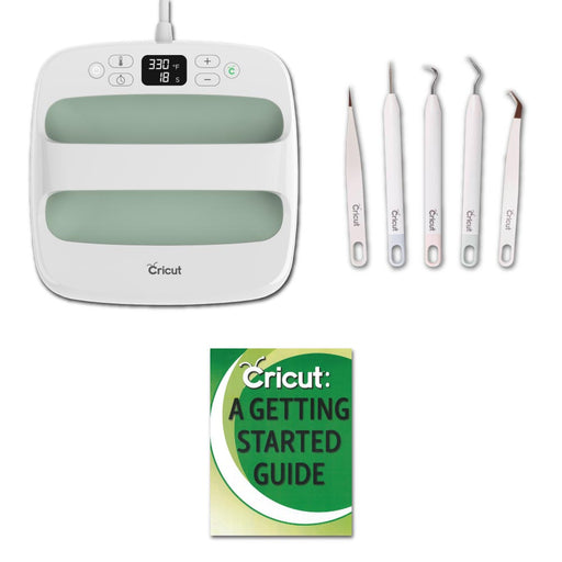 Cricut Mint EasyPress 2 9x9 with Iron-On and Essential Weeder Kit - Craft-e-Corner