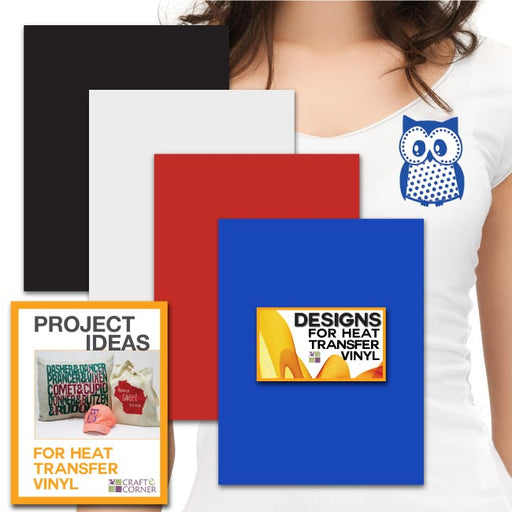 "Siser EasyWeed Heat Transfer Vinyl Sheets (4 pack) 12""x9"" Smooth Custom Tshirt - craft-e-corner.com"