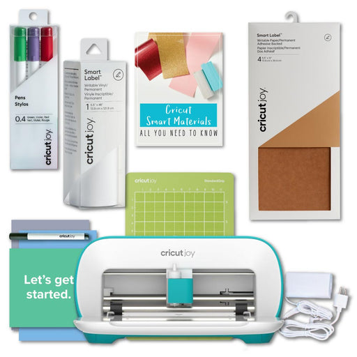 Cricut Joy Machine Bundle with Writable Smart Vinyl, Adhesive Backed Paper and Pen Set