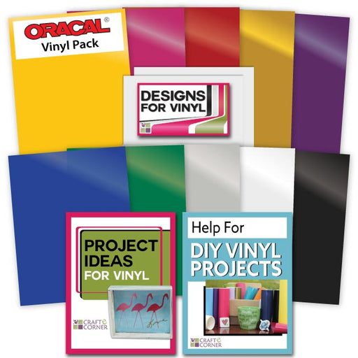 10 Expressions Vinyl Assorted Selection and Transfer Paper - craft-e-corner.com