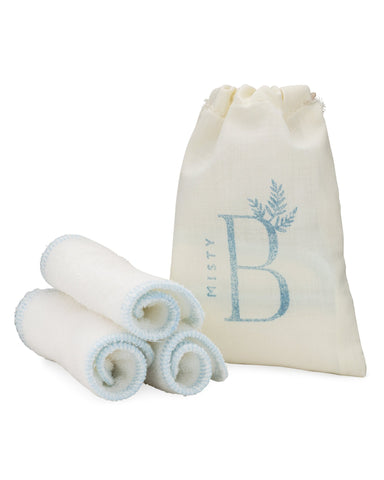 Organic Bamboo Facial Cleansing Wipes Trio