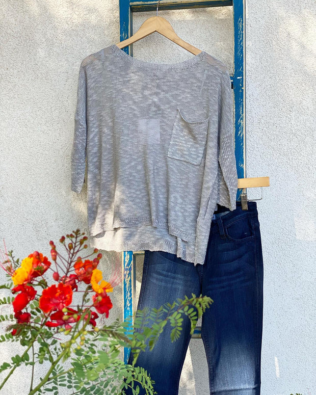 Grey Slouchy Top