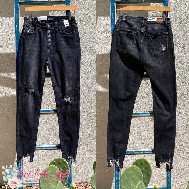 Judy Blue Black Button Fly Jeans