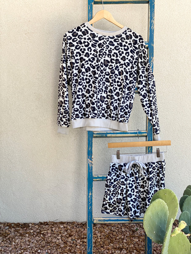 Snow Leopard Pajama Set