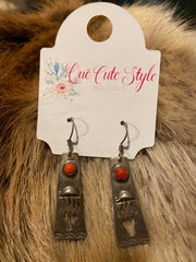 Bear Claw Coral Earrings