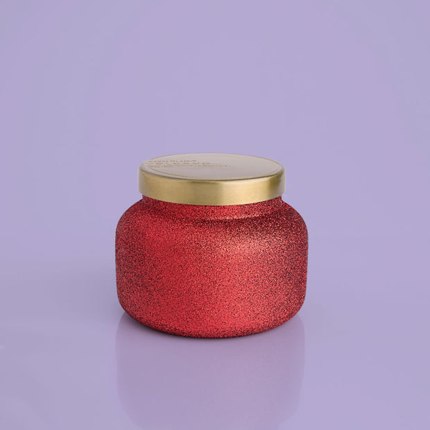 Capri Blue Volcano Candle Red Glitter Glam Jar