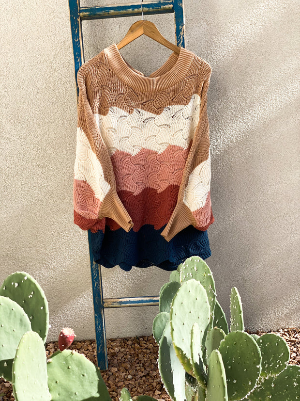 Fall Scalloped Sweater