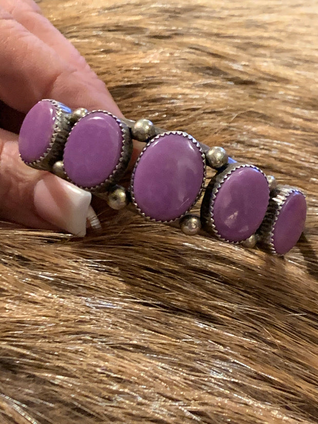 Purple Spiny Cuff Bracelet