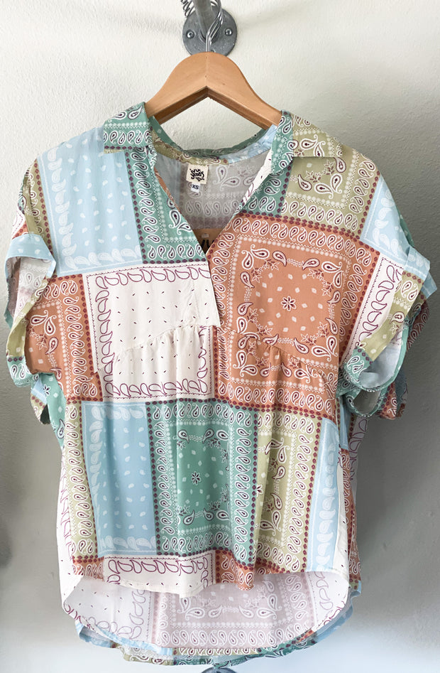 Ivy Jane Pastel Patchwork Top