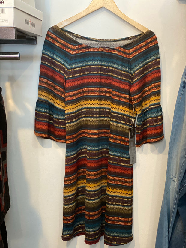 Double D Ranch Brown Serape Dress