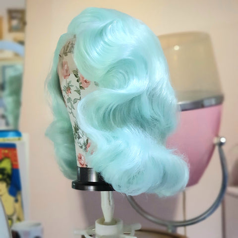 Mint Vintage Waves Wig