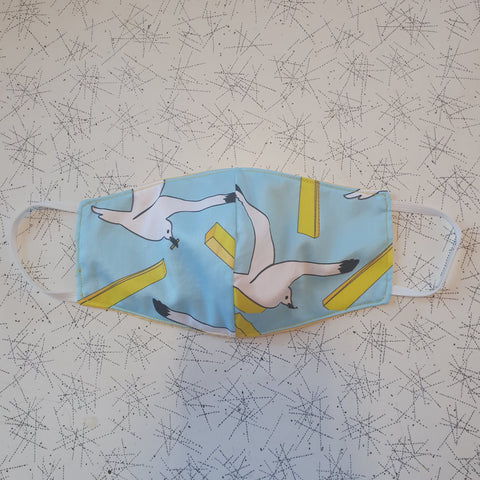 Cloth Face Mask Seagull/Yellow