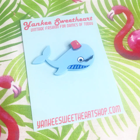 Whale of a time brooch