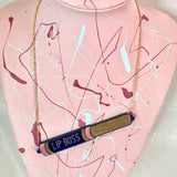 Lip Boss Necklace Light Pink