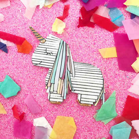 Sparkles The Unicorn Pinata Brooch