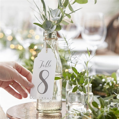 Beautiful Botanics - Eyelet Table Number - Grace of Design