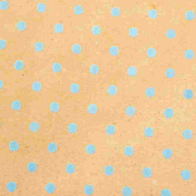 Blue Dimensional Dots Wrapping Paper