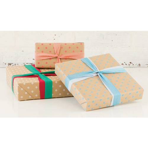 White Dimensional Dots Wrapping Paper - Grace of Design