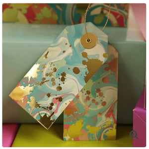 Gold Foil Marble GIft Tag Set - Grace of Design