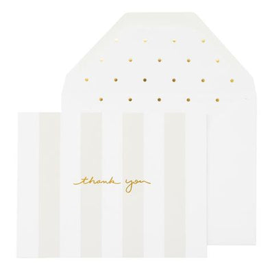 Sugar Paper Grey Stripe Thank You Greeting Card