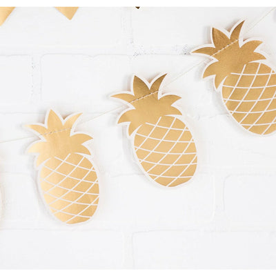 die-cut pineapple shaped gold foil banner