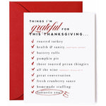 red envelope, list of things to be thankful for during thanksgiving season